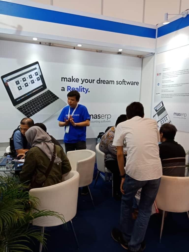 Booth MAS Software ramai